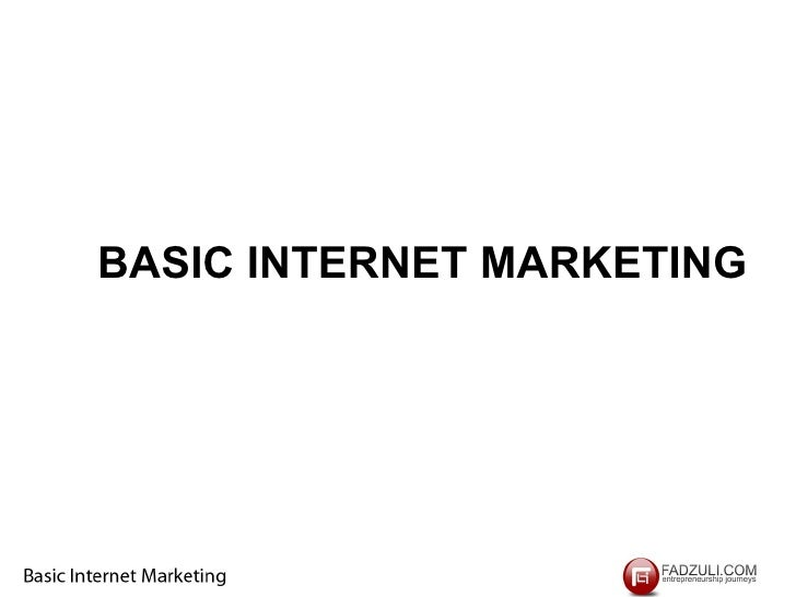 Basic internet marketing  Workshop