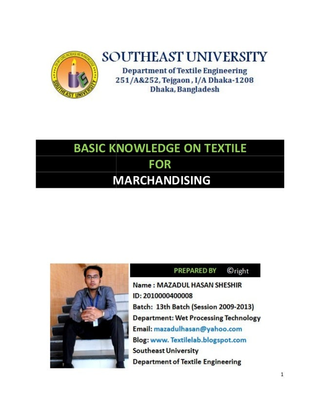 Basic knowledge on textile for marchandising