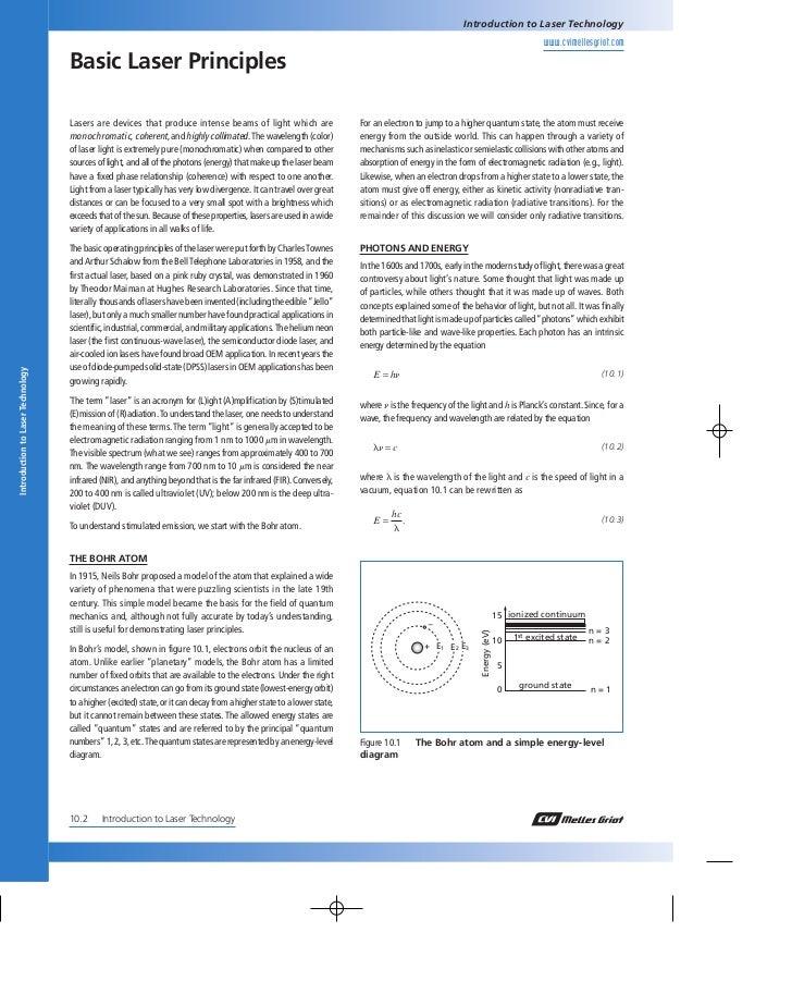 Basic laser principles