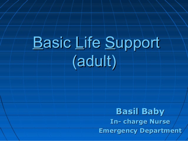 Basic life support (adult)