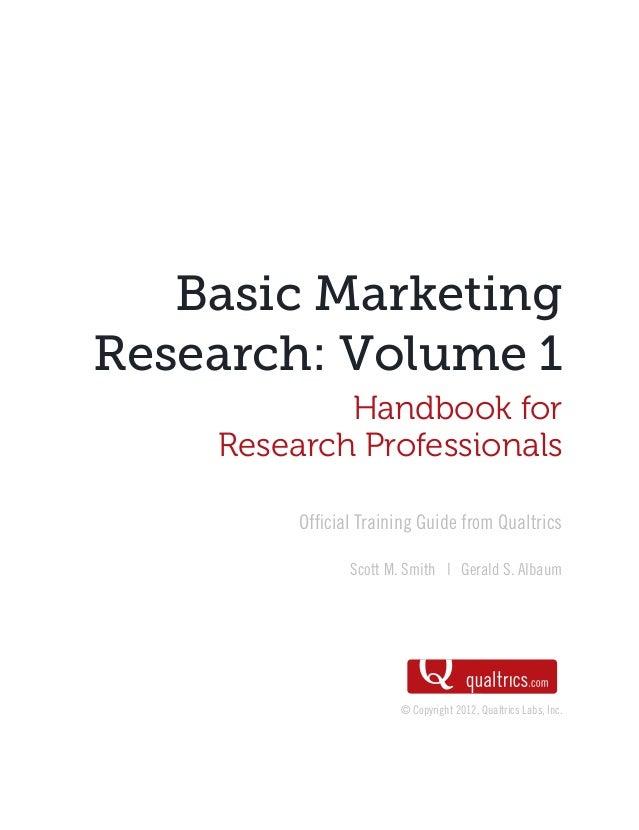 Basic Marketing Research (Nghiên cứu thị trường)