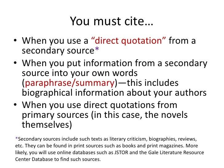 cite critical essay database