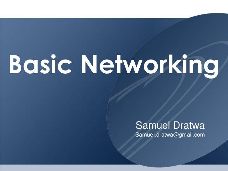 Basic networking 07-2012