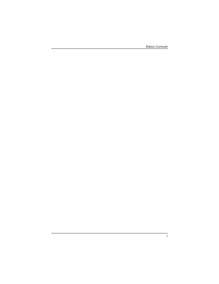 PROGRAMAS BASICOS CURRICULARES I Y II
