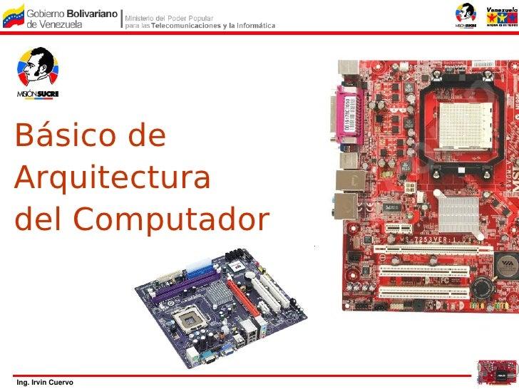 Básico de Arquitectura del Computador    Ing.IrvinCuervo