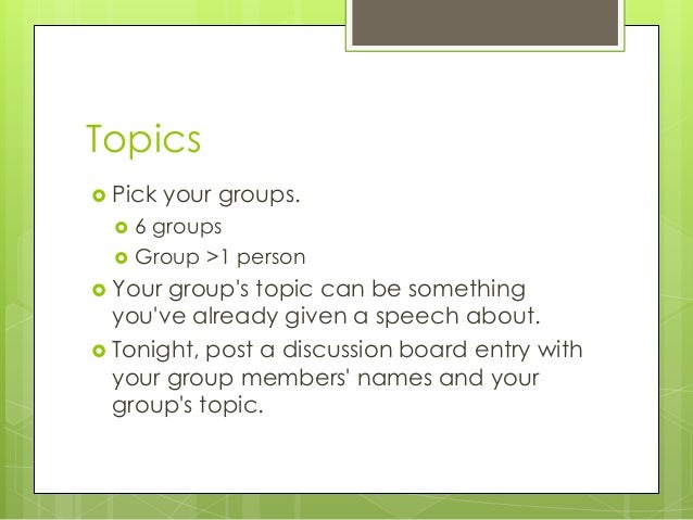 topical speech outlines