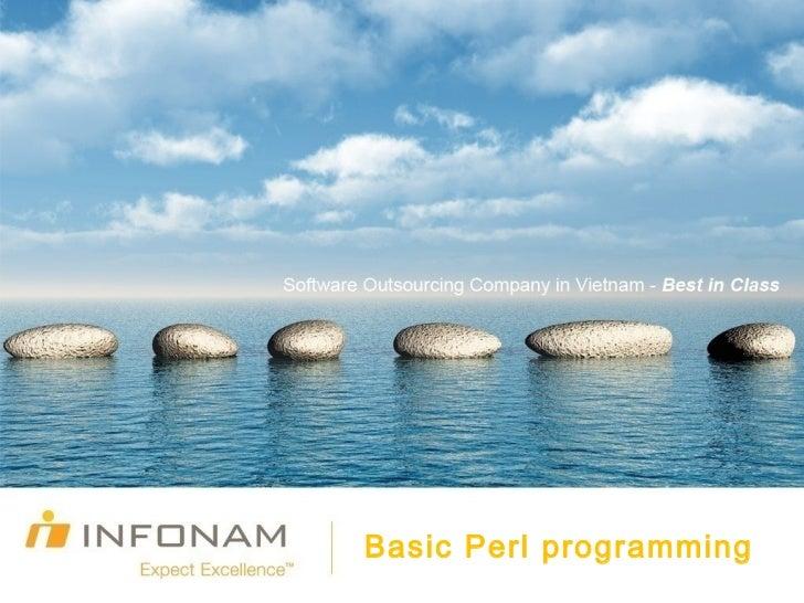 Basic Perl programming