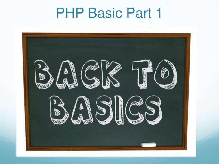 Learning PHP Basics Part 1