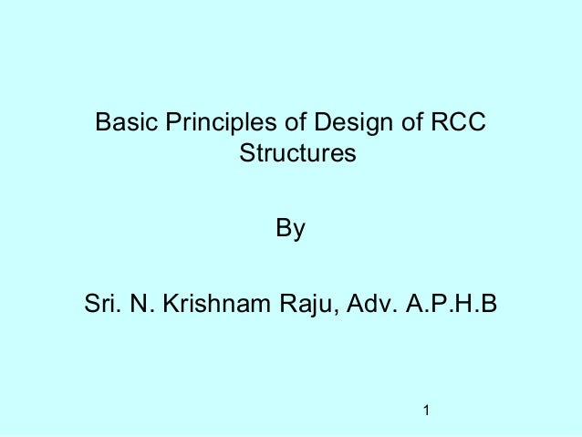 Basic Principles Of Design For Rcc Building