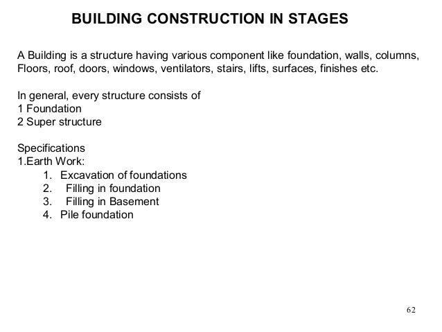 Principles Building Construction 62 Building Construction in