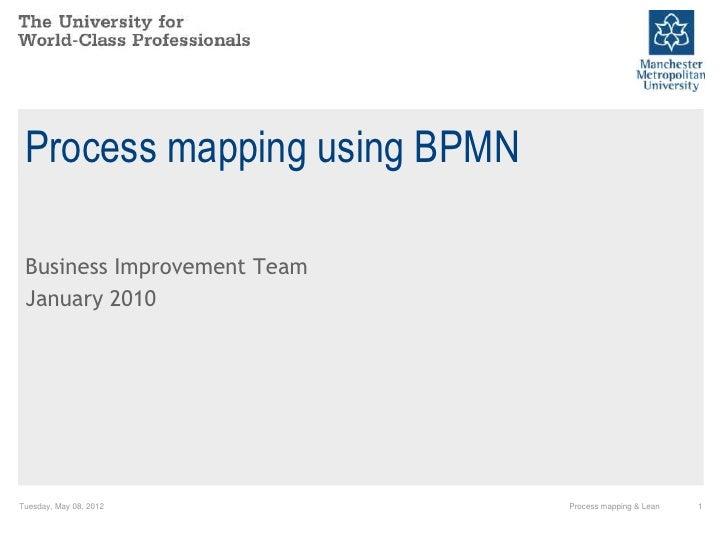 Basic process mapping using BPMN