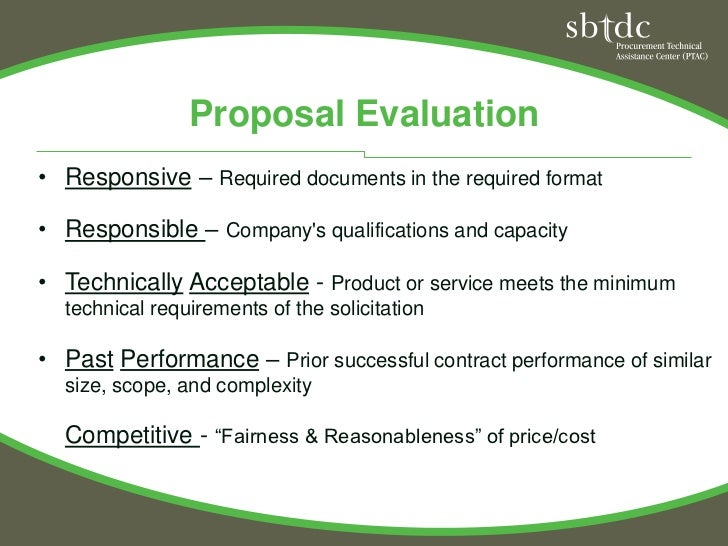 proposal on past performance Preparation guide for competitive source selection proposal  these are  technical, logistics, management, past performance, and cost.