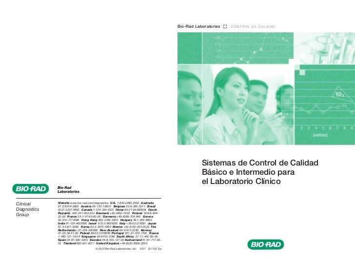 Bio-Rad Laboratories   CONTROL DE CALIDAD                                                                                ...