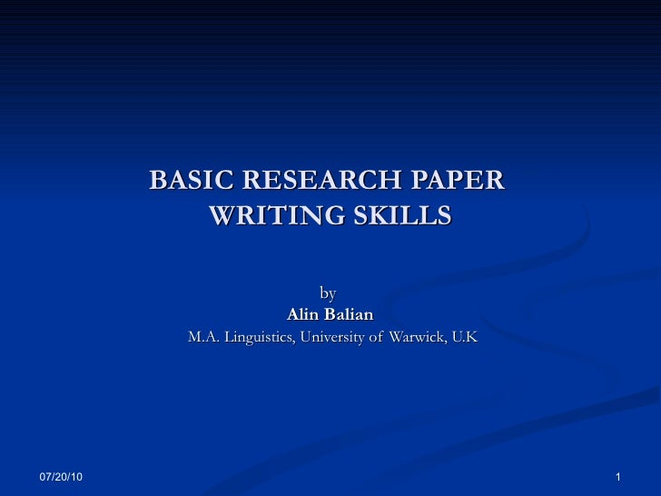 basic college subjects ways to write a research paper