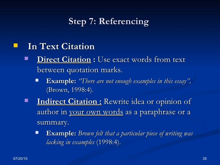 How do you cite stage directions in a research essay?