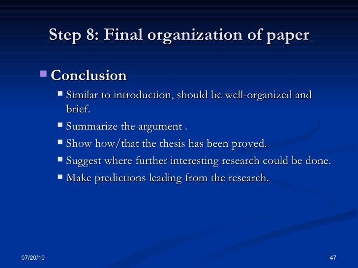 good conclusion term paper