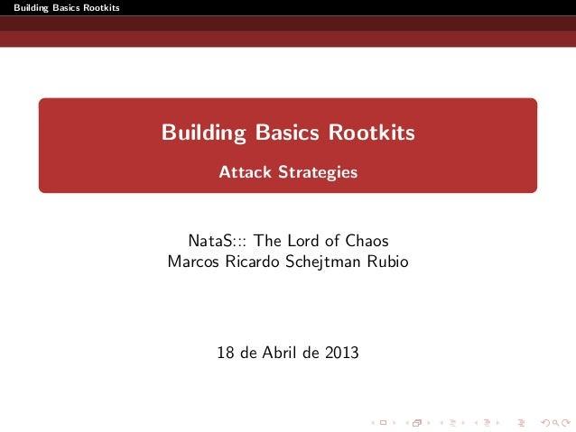 Desarrollo de rootkits en Linux [GuadalajaraCON 2013]
