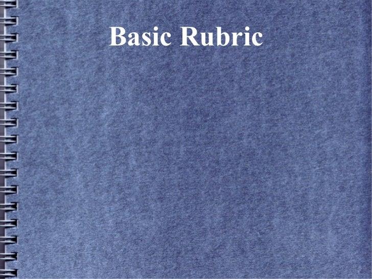 Basic Rubric Slideshow