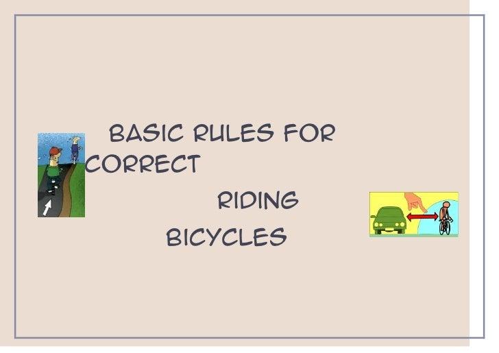 Basic rules for correct riding bike