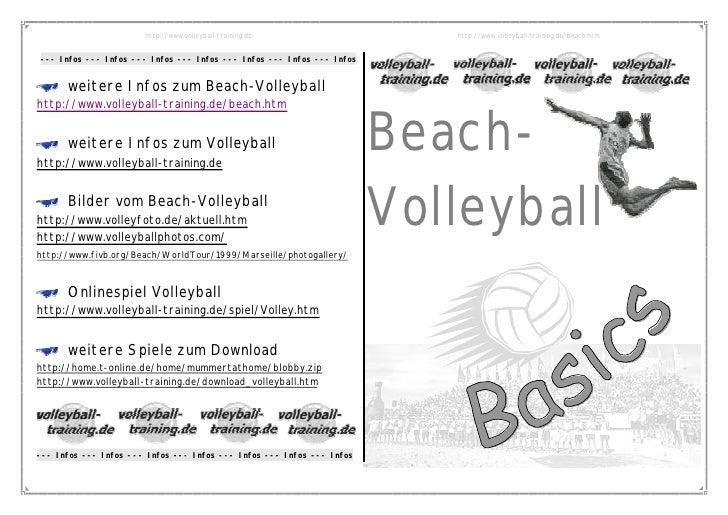 http://www.volleyball-training.de                   http://www.volleyball-training.de/beach.htm   --- Infos --- Infos --- ...