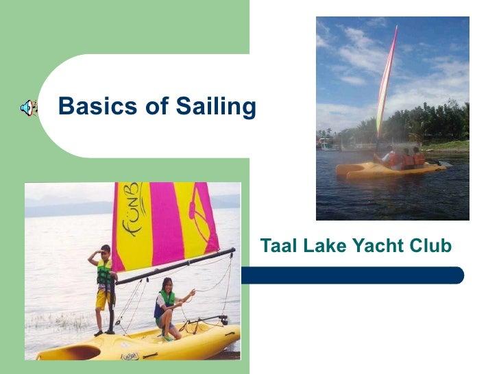 Basics of Sailing Taal Lake Yacht Club
