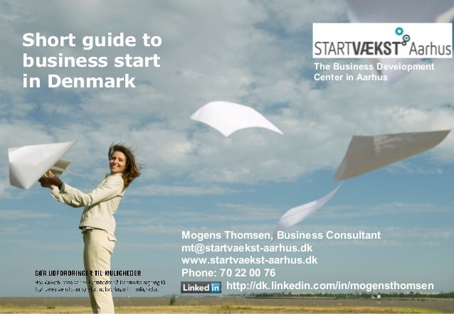 Basics about start up - Mogens Thomsen