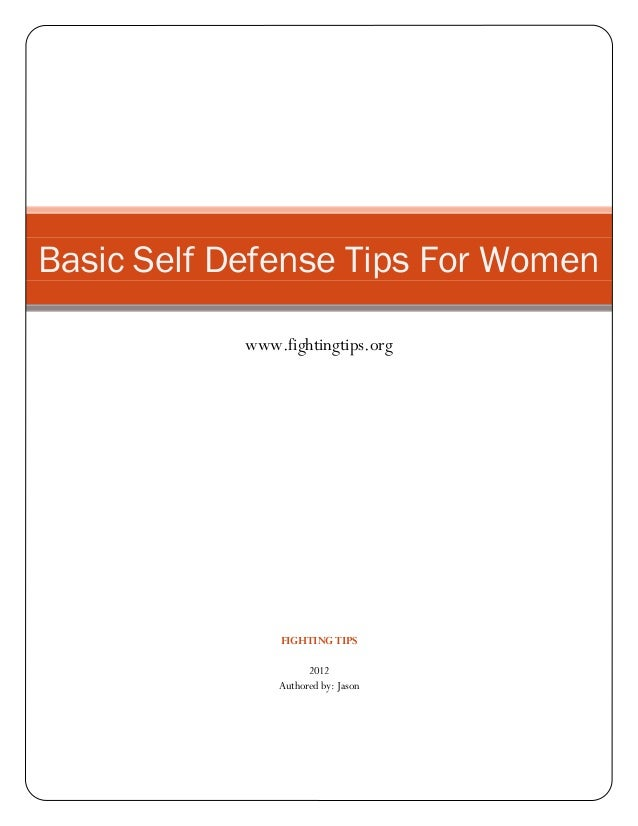 Simple Self Defense Tips For WOmen