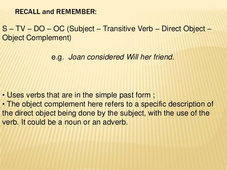 sentences object direct sample