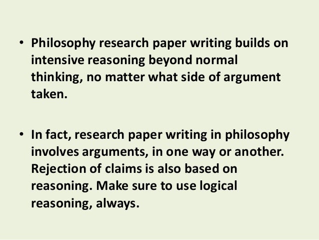 Writing a philosophy essay