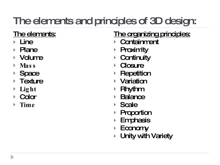 Elements And Principles Of Design Form : Basics of dimensional design