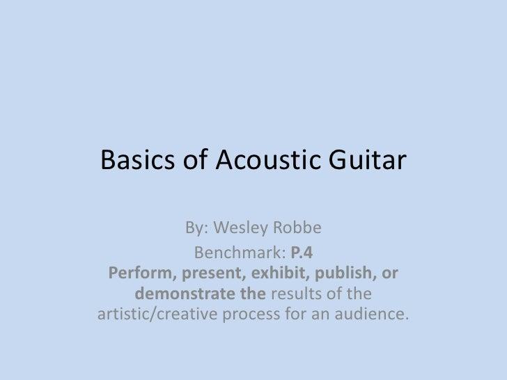 Basics Of Acoustic Guitar