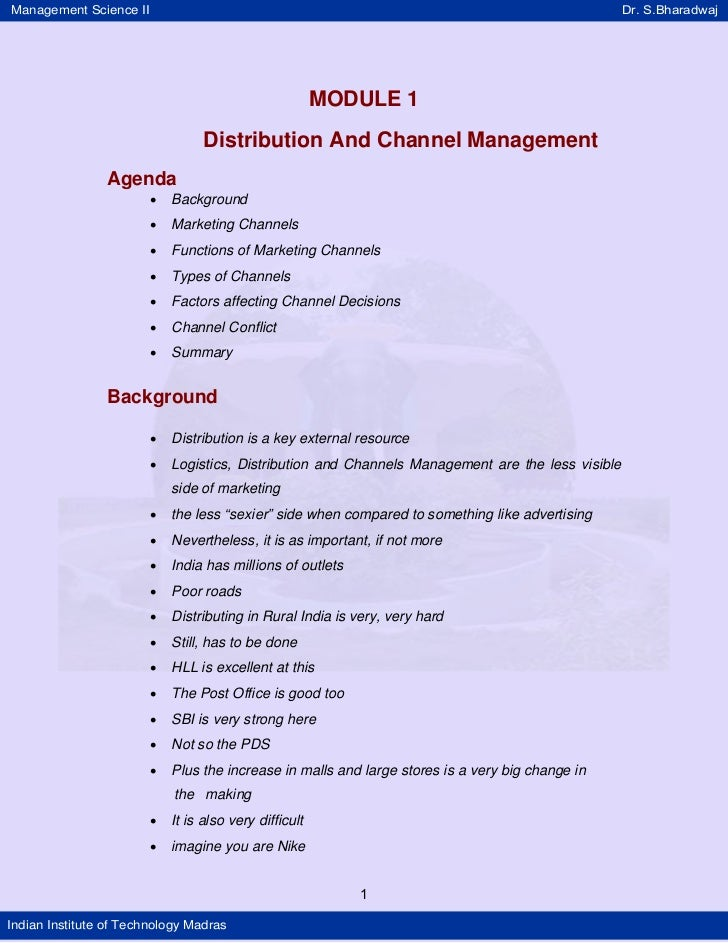 Basics Of Channel Management