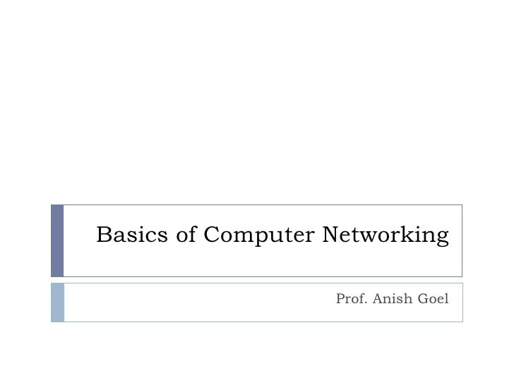 Basics Of Comuter Networking