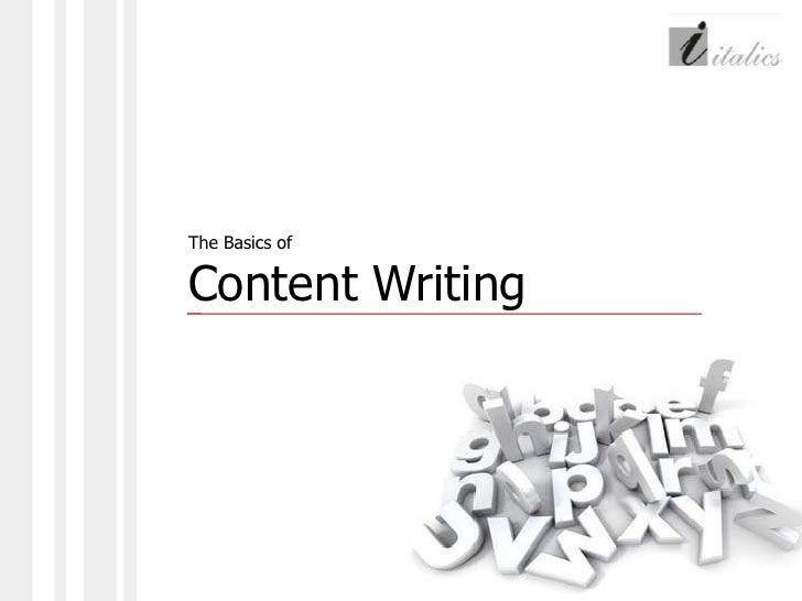Basics of content writing