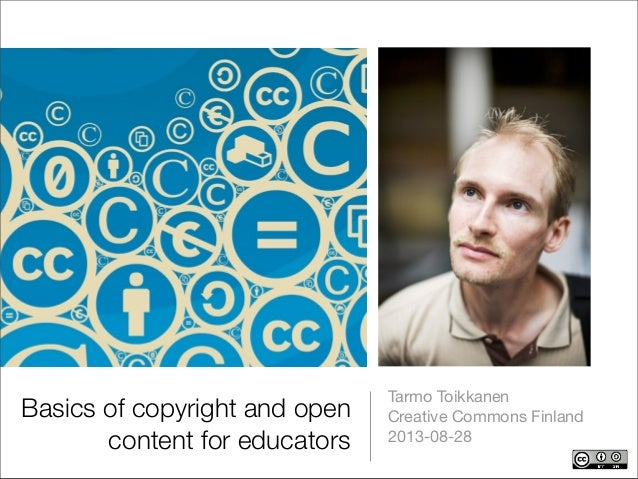 Basics of copyright and open content for educators