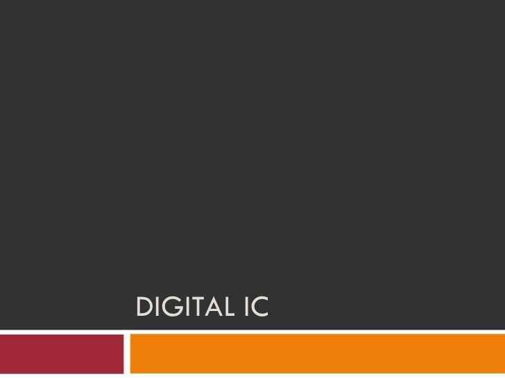 Basics of digital ic