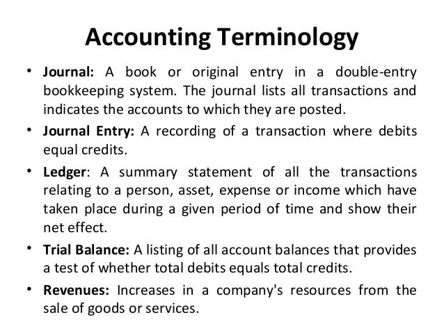 Basic accounting terms, acronyms, abbreviations and concepts to remember