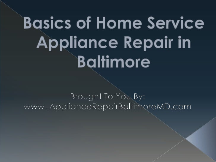 There are two types of appliance repair inBaltimore MD that you can get, and this articlewill be showing you the first - h...