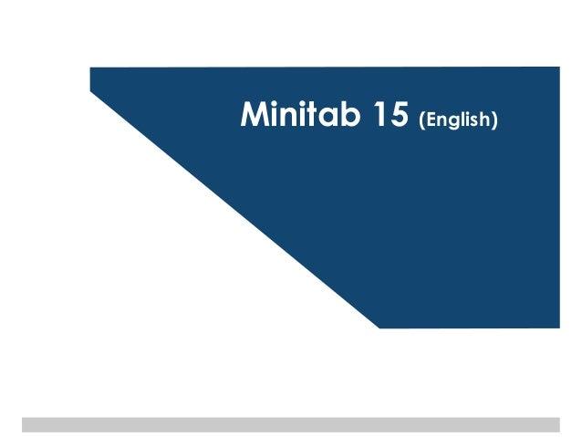 Basics of minitab 15 (english) v1