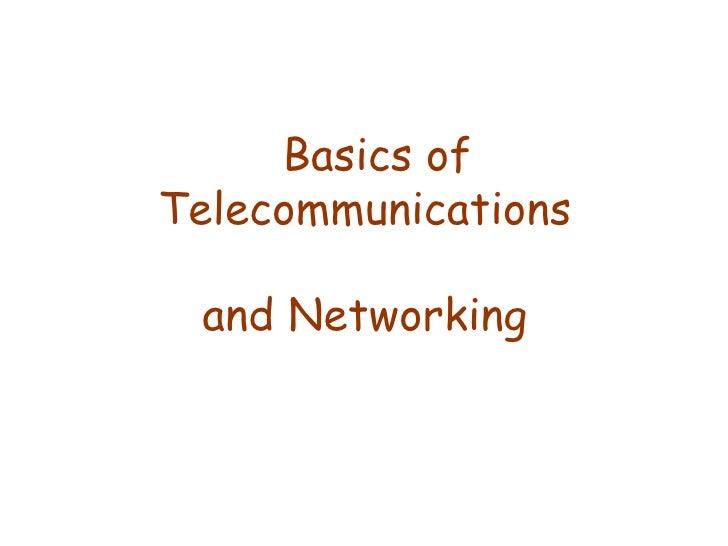 Basics Of Networking