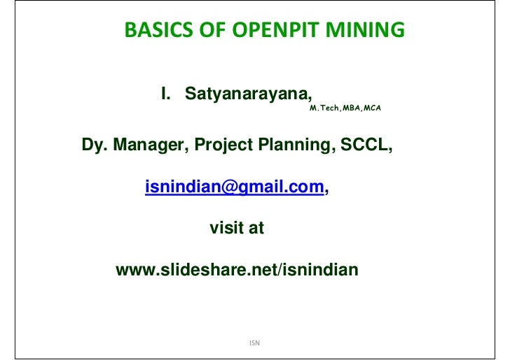 Basics of openpit mining