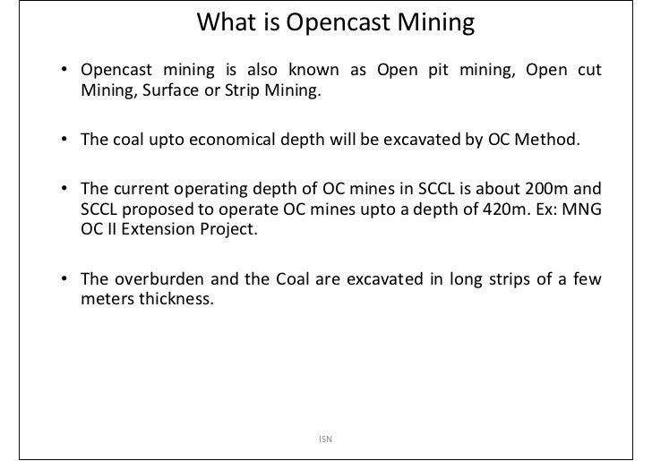 Open Pit Mining Methods Pdf Known as Open Pit Mining