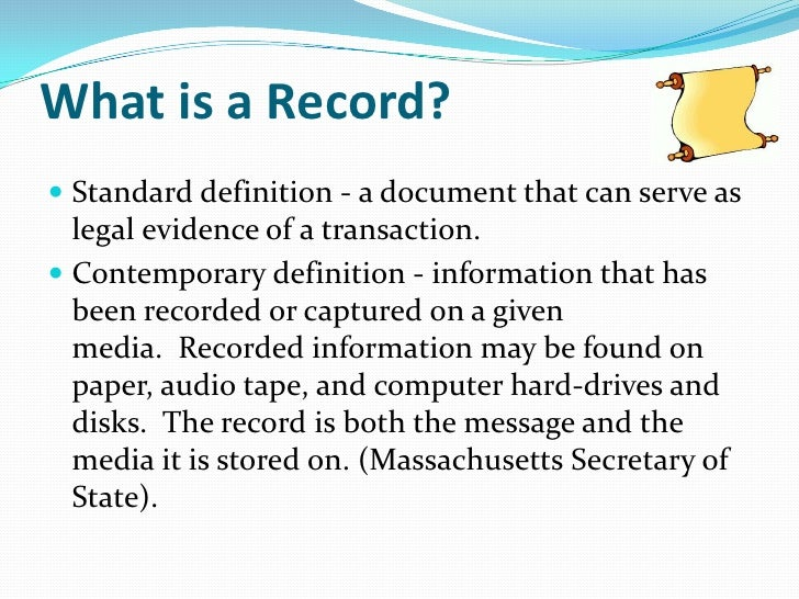 definition of records management A-z for information and records management the a–z for information and records management provides quick, easy access to key resources for.