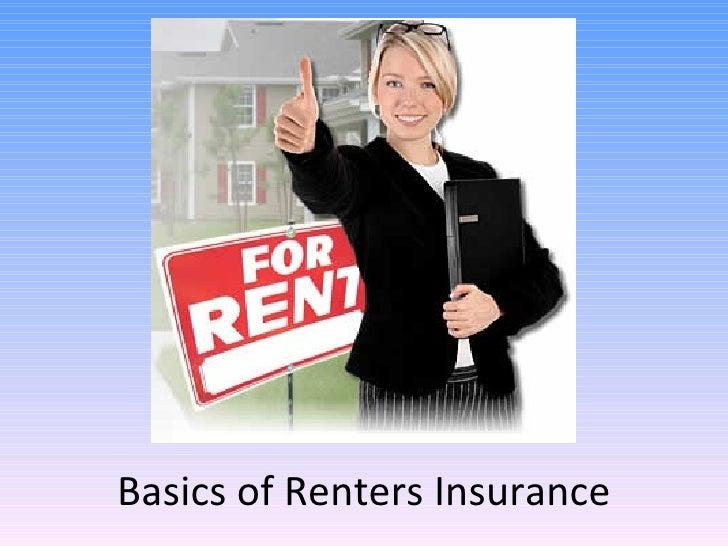Basics of Renters Insurance