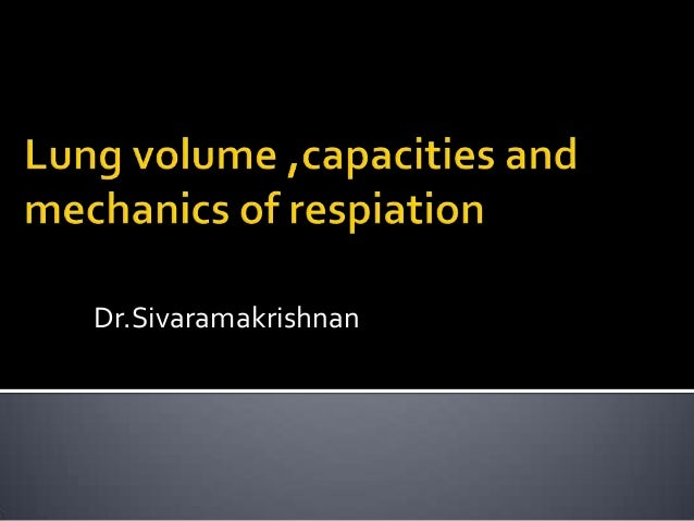 Basics of respiration