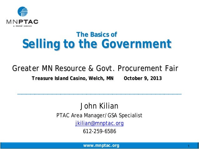 Basics of selling to the government j kilian 031009