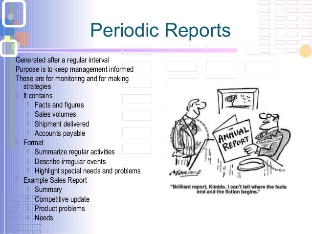 Periodic Reports Examples Images