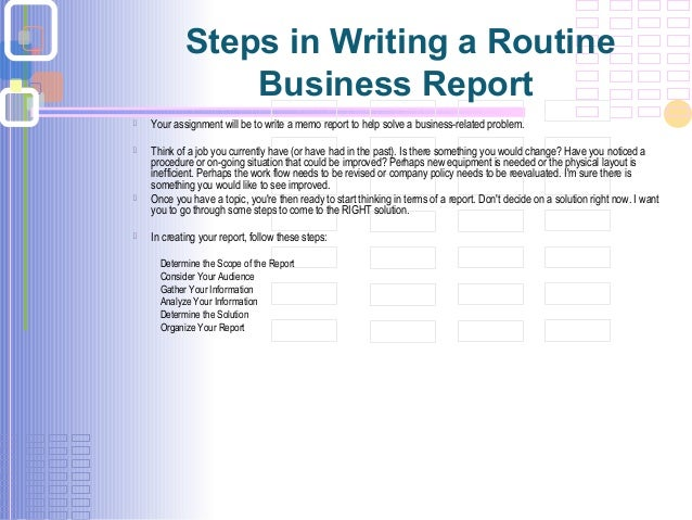 Board of studies how to write a business report