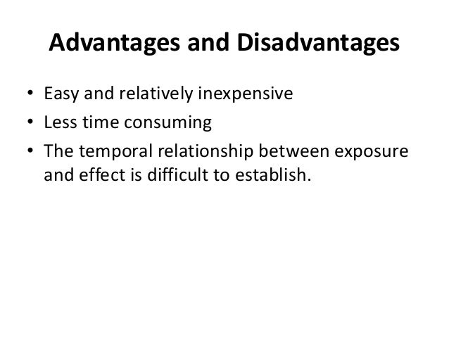 what are the advantages and disadvantages of studying disease using a case-control study