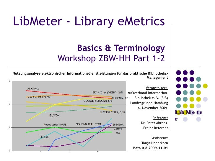 Basics Terminology Nat Lib Stats Lib Meter Zbw Hh Workshop